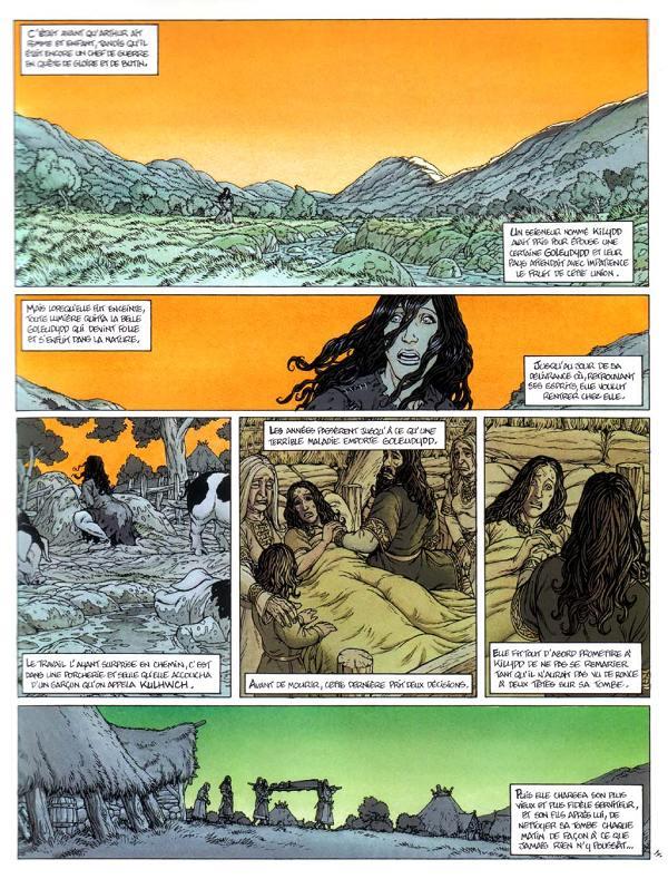 Planche de Arthur  Kulhwch et Olwen