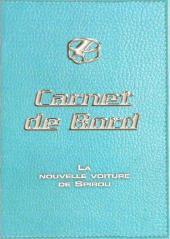 Spirou et Fantasio -2- (Divers) -MR3781- Carnet de Bord - La nouvelle voiture de Spirou