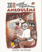 (DOC) Biographies, entretiens, études... -20DP- 33ème festival international de la bande dessinée Angoulême