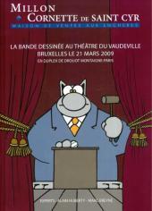 (Catalogues) Ventes aux enchères - Divers - Millon & Cornette de Saint Cyr - La Bande dessinée - 21 mars 2009 - Bruxelles théâtre du Vaudeville et Paris Drouot Montaigne