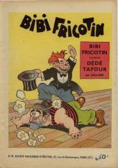 Bibi Fricotin (2e Série - SPE) (Après-Guerre) -9- Bibi Fricotin contre Dédé Tapdur