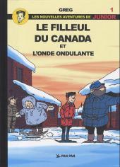 Luc Junior (les nouvelles aventures de) -1- Le filleul du Canada et l'onde ondulante