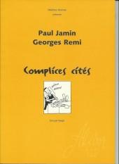 (AUT) Hergé -52- Paul jamin,georges remi-complices cités-