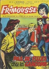 Frimousse -41- Pas de filles chez les garçons