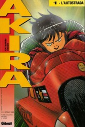 Akira (en italien) -1- L'Autostrada