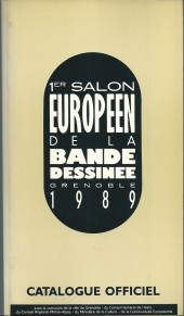 (Catalogues) Éditeurs, agences, festivals, fabricants de para-BD... - 1er salon de grenoble 1989