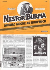 Nestor Burma (Feuilleton) -3- Micmac moche au Boul'Mich - Numéro 3