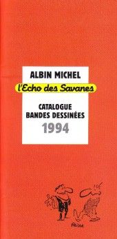 (Catalogues) Éditeurs, agences, festivals, fabricants de para-BD... - Catalogue 1994 - Albin Michel