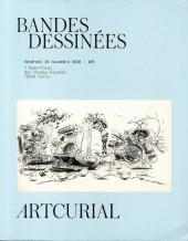 (Catalogues) Ventes aux enchères - Artcurial - Artcurial - Bandes Dessinées - Vendredi 18 novembre 2016