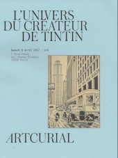 (Catalogues) Ventes aux enchères - Artcurial - Artcurial - Hergé - Samedi 8 avril 2017 - Paris