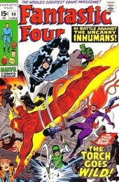 Fantastic Four (1961) -99- The torch goes wild!