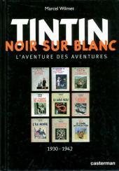 Tintin - Divers - Tintin Noir sur Blanc