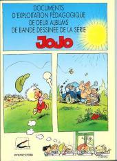 Jojo -HS1- Documents d'exploitation pédagogique de deux albums de bande dessinée de la série Jojo