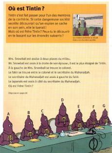Extrait de Tintin - Divers -AJ2- Album-jeux 2