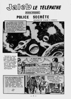 Extrait de Futura (1e Série - LUG) -2- Jaleb le Télépathe : Police secrète