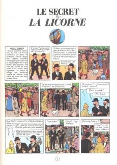 Extrait de Tintin (Historique) -11C6- Le secret de la licorne