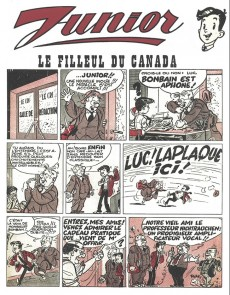 Extrait de Luc Junior (les nouvelles aventures de) -1- Le filleul du Canada et l'onde ondulante