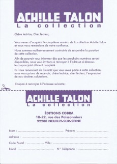 Extrait de Achille Talon - La collection (Cobra) -5- L'indispensable Achille Talon
