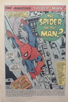 Extrait de Amazing Spider-Man (The) (1963) -100- The SPIDER or the MAN?