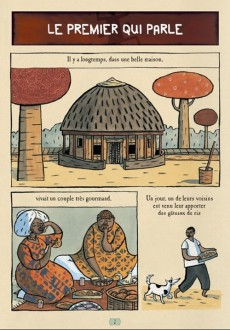 Extrait de Les contes en bandes dessinées - Contes africains