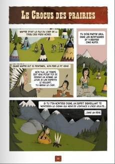 Extrait de Les contes en bandes dessinées - Contes amérindiens
