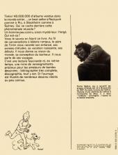 Verso de (AUT) Hergé -1- Tintin et moi entretiens avec Hergé