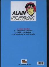 Verso de Alain Cardan - Tome 1
