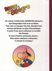 Verso de Dicentim le petit franc -4- Bougre d'allegro