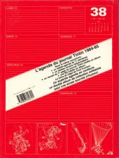 Verso de (DOC) Journal Tintin -4- L'agenda du journal Tintin 1984 - 85