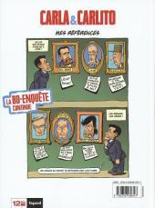 Verso de La face karchée de Sarkozy -4- Carla & Carlito ou la Vie de château