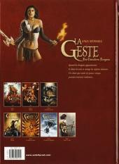 Verso de La geste des Chevaliers Dragons -7- Revoir le soleil
