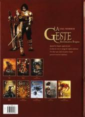 Verso de La geste des Chevaliers Dragons -8- Le chœur des ténèbres