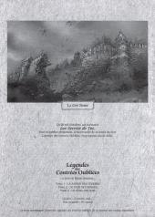 Verso de Légendes des contrées oubliées - Scénario - Les secrets de Tot