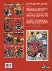 Verso de Les pompiers -8- La Ligue des sapeurs-héros