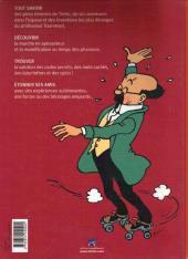Verso de Tintin - Divers -AJ2- Album-jeux 2