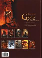Verso de La geste des Chevaliers Dragons -9- Aveugles