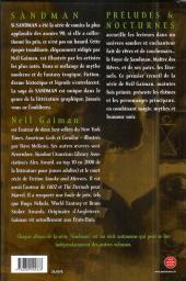 Verso de Sandman -1a- Préludes & nocturnes