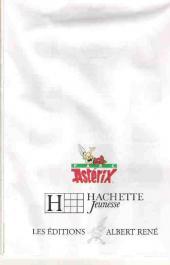 Verso de Astérix (Hors Série) - La mascotte
