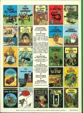 Verso de Tintin (Historique) -11C4- Le secret de la licorne