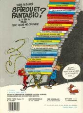 Verso de Spirou et Fantasio -8e83- La mauvaise tête