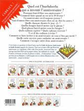 Verso de Le guide -14- Le guide du joyeux anniversaire
