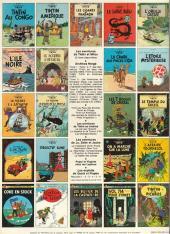 Verso de Tintin (Historique) -11C6- Le secret de la licorne