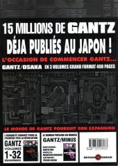 Verso de Gantz/Osaka -1- Tome 1