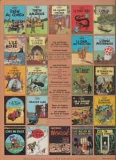 Verso de Tintin (Historique) -11C1- Le secret de la licorne