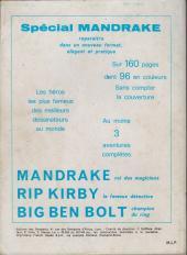 Verso de Mandrake (1e Série - Remparts) (Mondes Mystérieux - 1) -REC52- Album n° 52