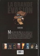 Verso de La grande évasion -1- Biribi