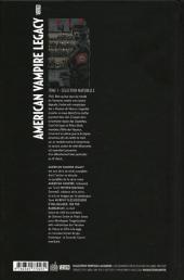 Verso de American Vampire Legacy -1- Sélection naturelle