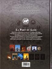 Verso de Zodiaque (Delcourt) -5- La Part du Lion