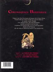 Verso de Chroniques Barbares -3- L'odyssée des Vikings