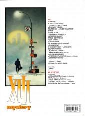 Verso de XIII Mystery -5- Steve Rowland
